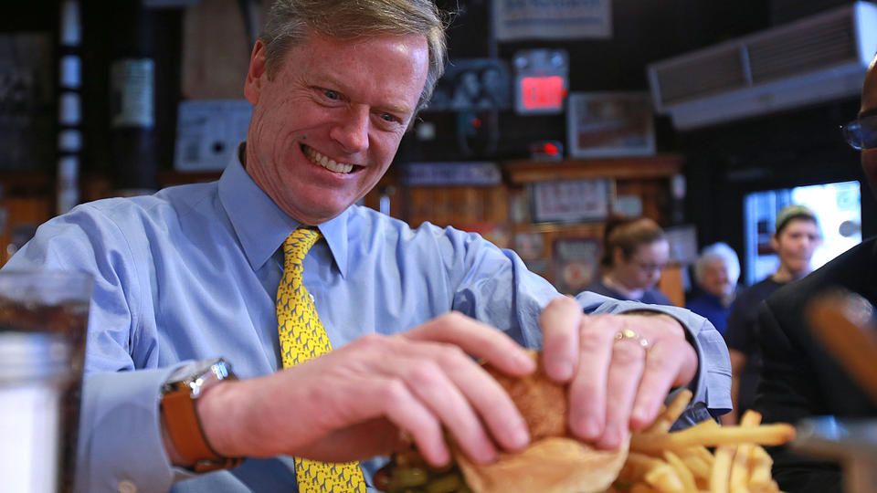 Candidate Charlie Baker; photo by Matt West